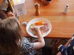 Fussy eating Child at restaurant