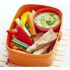 child's Healthy school lunch with raw vegetables